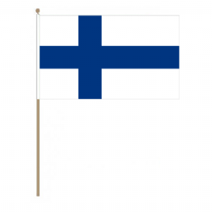 Finland Country Hand Flag - Large.
